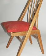 krzesło tapicerowane Niemcy lata 60.